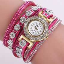 2018 Watch Women Bracelet Ladies Watch With Rhinestones Clock Womens Vin... - $20.80