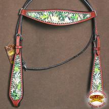Western Horse Headstall Tack Bridle American Leather Mahogany U-O-HS - $63.99