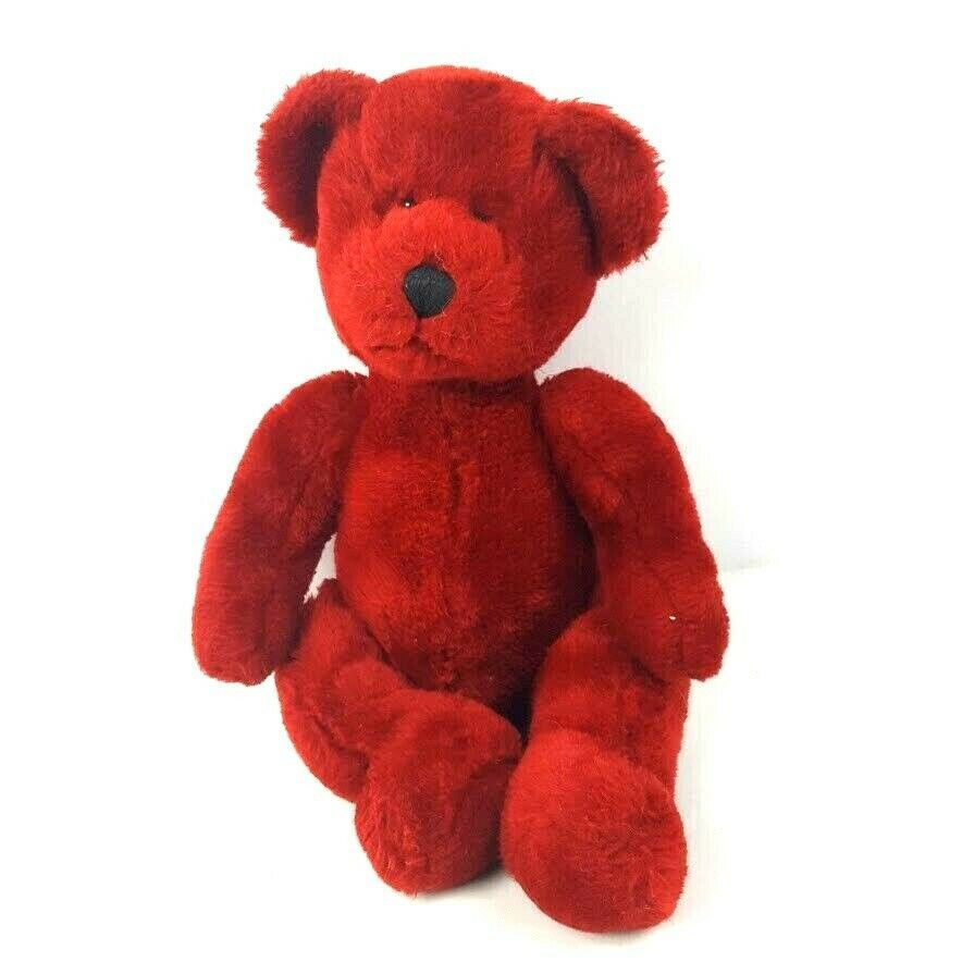 "Primary image for Russ Berrie Plush Teddy Bear Ruby Red 14"" Stuffed Animal"