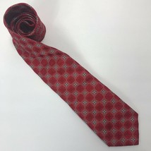 "Daniel Cremieux Men's Tie 100% Silk Handmade Geometric Red Blue L 57"" W ... - $17.66"