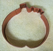 Extra Large Copper Pumpkin Halloween Thanksgiving Cookie Cutter 5 Inches... - $18.32