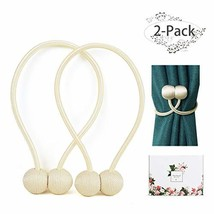 ANNGEOK Magnetic Curtain Tiebacks,The Most Easy Strong Magnet Curtain Ho... - $17.12