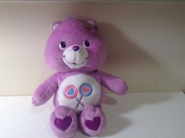 "Care Bears Plush Bear Purple 10"" tall EUC CUTE 2002 SHARE BEAR - $8.05"