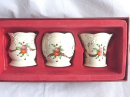 Lenox Holiday Tartan Votives, Set of 3 Christmas Candle Holders - $34.64
