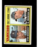 1967 TOPPS #93 STAN BAHNSEN/BOBBY MURCER VG+ RC YANKEES ROOKIES  *X3365 - $3.96