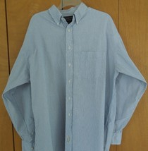 MENS ABERCROMBIE and FITCH STRIPED DRESS SHIRT Size 16 1/2L LONG SLEEVE ... - $23.75