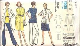 8267 Vintage Vogue SEWING Pattern UNCUT Easy Dress Jacket Skirt Overblou... - $6.92