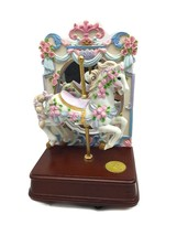 San Francisco Music Box Company Carousel Horse Roses w Mirror Limited Ed... - $39.60