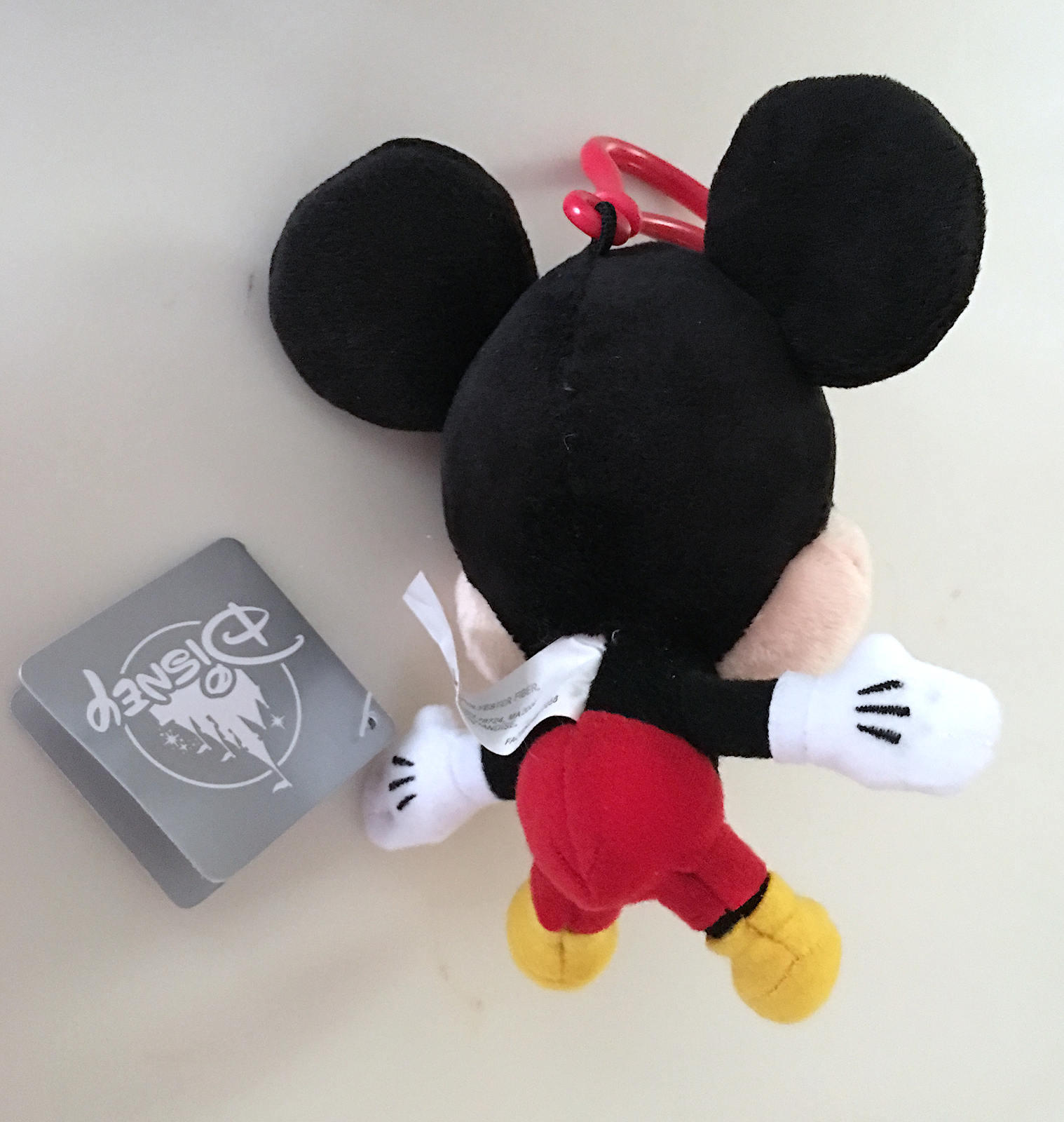 Disney Parks Mickey Mouse  Big Head Plush Purse Hanger Keychain Key Chain NEW