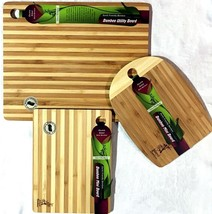 Earth Friendly Double Sided Bamboo Cutting Boards 3 Piece Set - $19.89