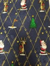 American Greetings Golf Santa Rudolph Merry Christmas Navy Blue Red Mens... - $11.60