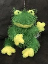 "TY Punkies FUZZY GREEN HOPSCOTCH FROG 9"" Bean Bag Stuffed Animal 2002 NE... - $4.95"