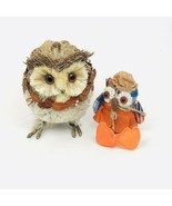 """All Natural Items 10"""" Tall Owl And 10"""" Long w/feet Owl Bundle NWT - $23.17"""