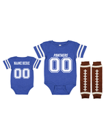 Personalized Carolina  Panthers Jersey Uniform Onesie Choose Name And Nu... - $27.95+
