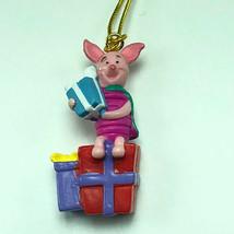 WINNIE POOH CHRISTMAS ORNAMENT Walt Disney figurine friends miniature pi... - $9.85