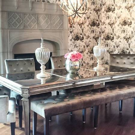 Z Gallerie Empire Dining Table Champagne And 50 Similar Items