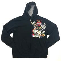 NEW Starter Full Zip Hoodie Adult L Large 42 -44 Embellished SKULL NEW Y... - $42.53