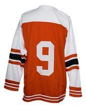 Custom Name # Buffalo Bisons Retro Hockey Jersey New Orange Any Size image 2