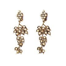 The Cats Pajama Golden Grapes Clip-On Statement Earrings - $45.00