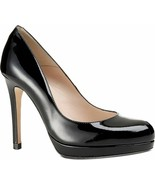 L.K. Bennett Sledge Black Patent Leather Pump Shoe Heel 40.5 Platform - $179.90