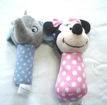 Set of 2 Disney Soft Rattles Minnie Mouse and Dumbo - $12.99