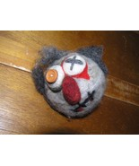 Handmade Googly Eye Frankenstein Like Stuffed Wood Ball Head for Halloween Decor - $8.59