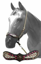 Western Horse Hair on Leather Tie Down Nose Band Barrel Racing Rodeo Games - $35.15