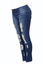 V.I.P.JEANS Ripped Distressed Washed Skinny Stretch Jeans For Women Plus... - $25.49+