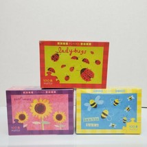 Lot of 3 Five Flying Fish 100 Piece Jigsaw Puzzles Sunflowers Bees & Lad... - $15.99