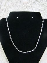 "Vintage Beautiful 7.5"" Monet Silver-Toned Choker Necklace - Adjustable C... - $12.86"