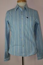 Abercrombie New York Boys Collard Button Down Shirt Sz Large - $10.69