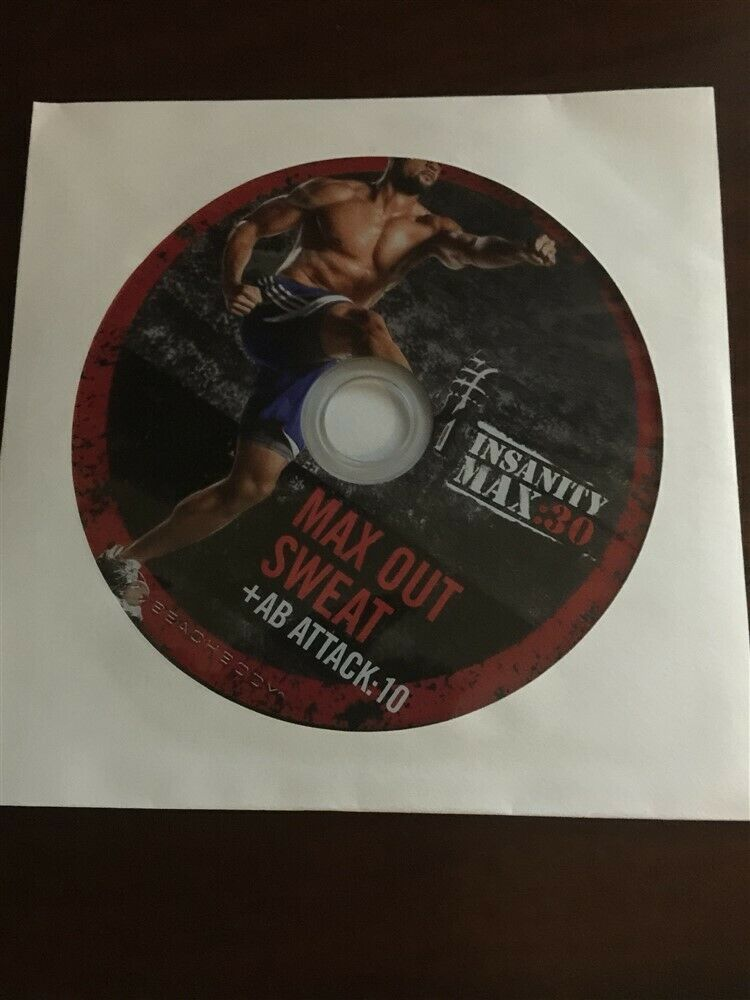 BEACHBODY INSANITY MAX 30 REPLACEMENT DISC DVD MAX OUT SWEAT & AB ATTACK 10