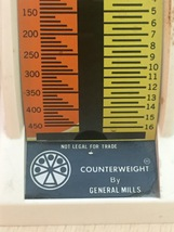 "Vintage General Mills ""Counterweight"" 16oz. Kitchen Food Scale  image 2"