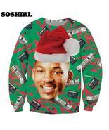 Causal Sweatshirt Fresh Prince Christmas Crewneck Jumper Carlton Prince/... - $18.99
