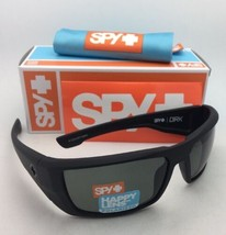 Polarized SPY OPTIC Sunglasses DIRK Soft Matte Black Frame w/ Happy Grey-Green