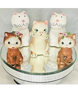 Cats  salt & pepper 5 shakers made in  Brazil Korea & China - $18.80
