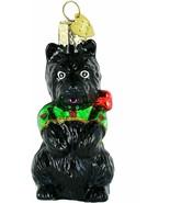 Old World Christmas black perky pup dog glass Ornament 12030 Scotty? - $14.99