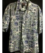 Harley-Davidson Hawaii Aloha Shirt Made In Hawaii L Aloha Shirt Tapa pal... - $39.59