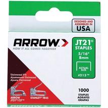 """Arrow 21524 JT21 Thin Wire Staples, 1,000 pk (5/16"""") - $20.08"""