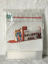Vintage Columbia-Minerva Cardinal Mailbox Needlepoint Christmas Idea Kit... - $47.45