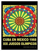 Decorative Poster.Interior wall art design.Mexico Olympics.Calendar Maya... - $9.90+
