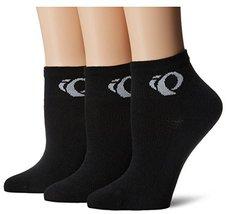 Pearl Izumi Women's W Attack Low Socks (3-Pack), Black, Large