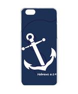 Navy Blue Faith Anchor with Hebrew 6:19 Design iPhone 6 Slim White Case ... - $12.16