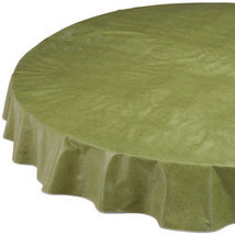 Illusion Weave Vinyl Drop Tablecover-70ROUND-SAGE - $15.24