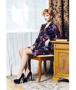 SKIRT SET FLORAL Wear To Work Made In Europe Party Cocktail Pencil Skirt... - $195.00