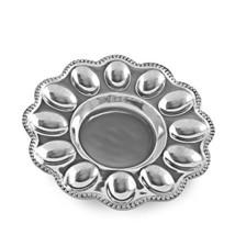 Beatriz Ball 6182 Pearl Deviled Egg Platter Silver - $99.10