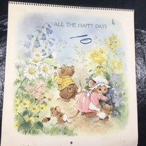 Vintage 1976 Hallmark Calendar All The Happy Days Mice Mouse Loretta S A... - $13.09