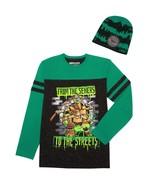 MUTANT NINJA TURTLES Long-Sleeve Tee Shirt & Beanie Combo Boys Size 10-12 - $14.61