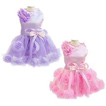 Charming Dog Clothes for Dogs Sweet Wedding Dress Puppy Skirt Princess P... - $645,63 MXN