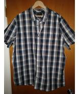 Fox Men's Button Up Shirt Charcoal and Gray - XXL - $15.00